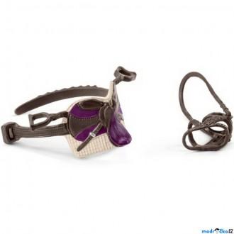 Ostatní hračky - Schleich - Koňský postroj, Sedlo a uzda Lisa a Storm