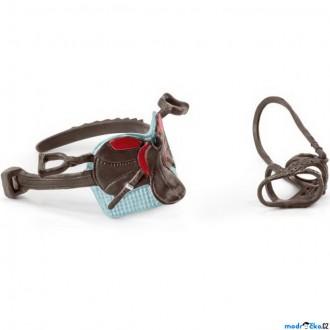 Ostatní hračky - Schleich - Koňský postroj, Sedlo a uzda Hannah a Cayenne