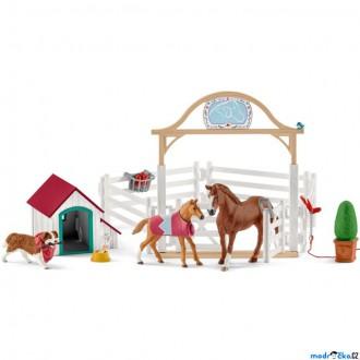Ostatní hračky - Schleich - Jezdecký klub, Hostující koně Hannah s fenkou Ruby