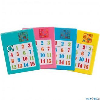 Puzzle a hlavolamy - Hlavolam plastový - Posunovací puzzle čísla, 1ks (Goki)