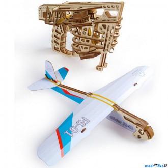 Stavebnice - 3D mechanický model - Vystřelovací letadlo (Ugears)