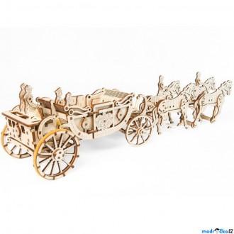 Stavebnice - 3D mechanický model - Královský kočár (Ugears)