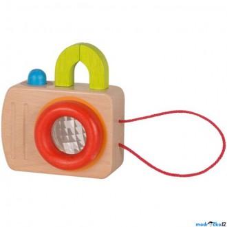Pro nejmenší - Fotoaparát dětský - Dřevěný s muším okem (Goki)