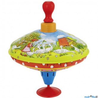 Dřevěné hračky - Plechová hračka - Káča 18,5cm, Husopaska (Goki)