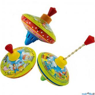 Pro nejmenší - Plechová hračka - Káča 13cm, Mix, 1ks (Goki)