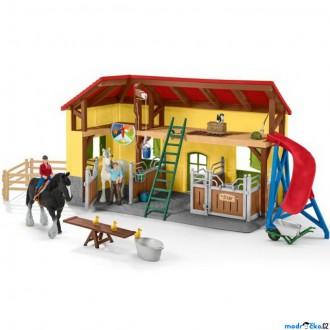 Ostatní hračky - Schleich - Farma, Stáj pro koně s příslušenstvím