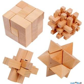 Puzzle a hlavolamy - Hlavolam dřevěný - Set 4 hlavolamů (Legler)