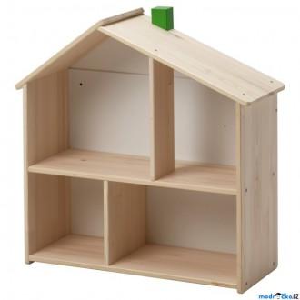 Dřevěné hračky - Domeček pro panenky - Policový FLISAT (Ikea)