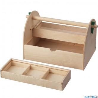 Dřevěné hračky - Kreslení - Box na výtvarné potřeby LUSTIGT (Ikea)