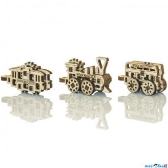 Stavebnice - 3D mechanický model - Widgets, Doprava veřejná (Wooden City)