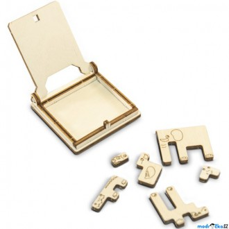 Puzzle a hlavolamy - Hlavolam dřevěný - Cestovní mini hra, ZOO puzzle (Wooden City)