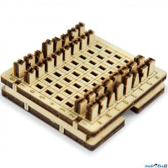 Dřevěné hračky - Šachy - Cestovní mini hra, přírodní dřevo (Wooden City)
