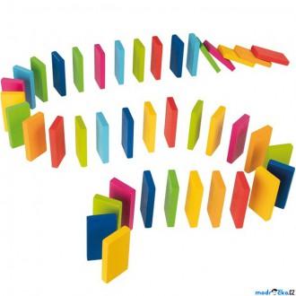 Dřevěné hračky - Dominová dráha - Domino Rally duhové, 48ks (Goki)