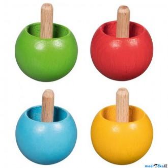 Dřevěné hračky - Drobné hračky - Káča dřevěná, Obracecí, 1ks (Goki)