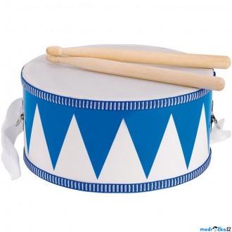 Dřevěné hračky - Hudba - Bubínek dřevěný, Modrý, 20cm (Goki)