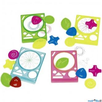 Dřevěné hračky - Kreslení - Pravítko spirograf plastové, 1ks (Goki)
