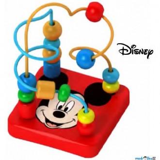 Dřevěné hračky - Motorický labyrint drátěný malý - Mickey (Disney Derrson)