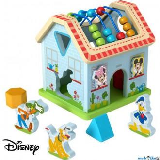 Dřevěné hračky - Vhazovačka - Motorický domeček Mickeyho svět (Disney Derrson)