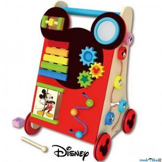 Pro nejmenší - Chodítko dřevěné - Motorický set, Mickey (Disney Derrson)