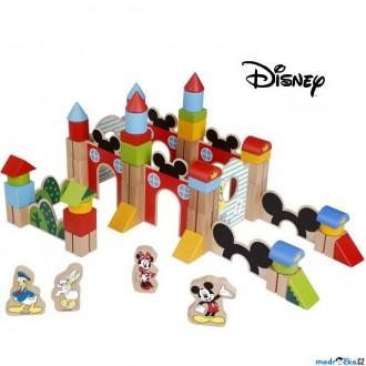 Stavebnice - Kostky - Barevné, Mickeyho hrad velké, 60ks (Disney Derrson)