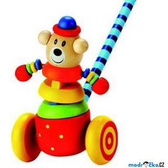 Dřevěné hračky - Jezdík na tyči - Medvěd (Bino)