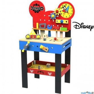 Dřevěné hračky - Malý kutil - Pracovní stůl, Mickeyho velký dřevěný ponk (Disney Derrson)