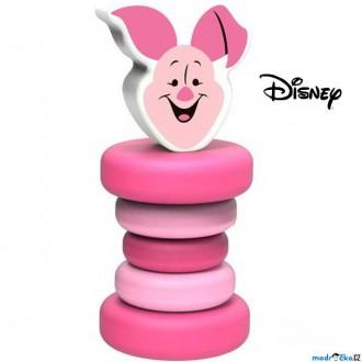 Pro nejmenší - Chrastítko - Hračka do ruky, Dřevěné Prasátko (Disney Derrson)