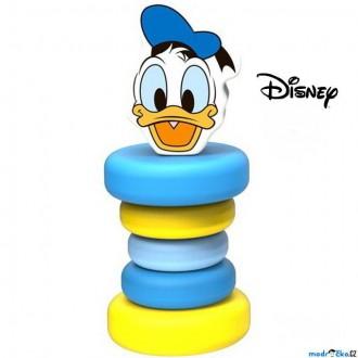 Pro nejmenší - Chrastítko - Hračka do ruky, Dřevěný Kačer Donald (Disney Derrson)