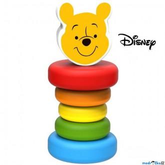 Pro nejmenší - Chrastítko - Hračka do ruky, Dřevěny Medvídek Pú (Disney Derrson)