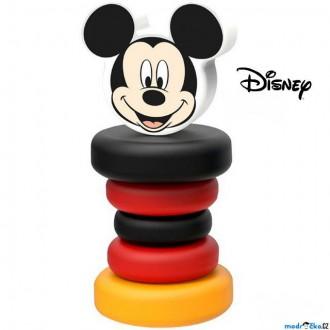 Pro nejmenší - Chrastítko - Hračka do ruky, Dřevěny Mickey Mouse (Disney Derrson)