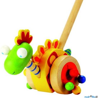 Dřevěné hračky - Jezdík na tyči - Dinosaurus (Bino)