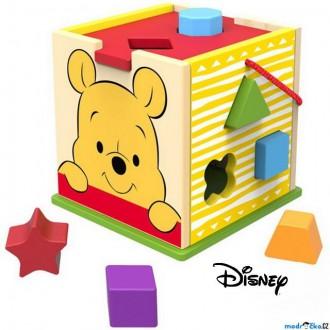 Dřevěné hračky - Vhazovačka - Vkládací krabička, Medvídek Pú (Disney Derrson)
