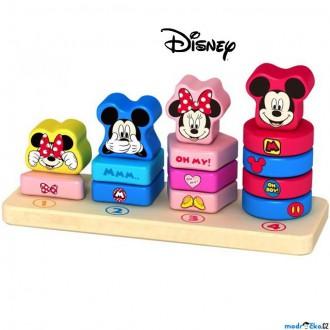Dřevěné hračky - Skládačka - Nasazování na tyč, Veselé počítání s Mickey a Minnie (Disney Derrson)