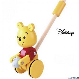 Dřevěné hračky - Jezdík na tyči - Medvídek Pú dřevěný (Disney Derrson)