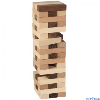 Dřevěné hračky - Jenga přírodní - Eko Nature společenská hra (Goki)