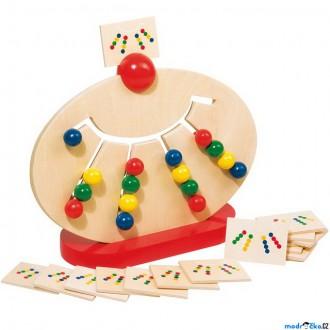Puzzle a hlavolamy - Motorický labyrint - Edukativní hlavolam s kuličkami (Goki)