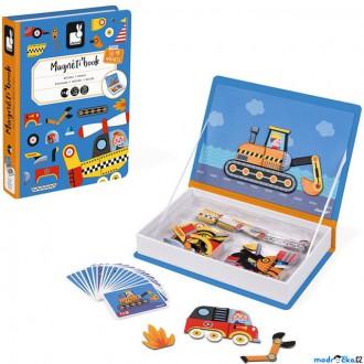Puzzle a hlavolamy - Puzzle magnetické - Kniha, Dopravní prostředky (Janod)