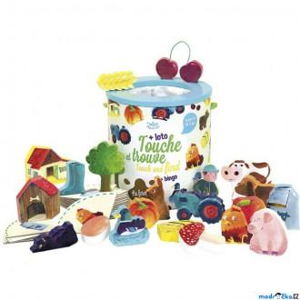 Dřevěné hračky - Didaktická hra - Hmatová, Hmatej a najdi Farma (Vilac)