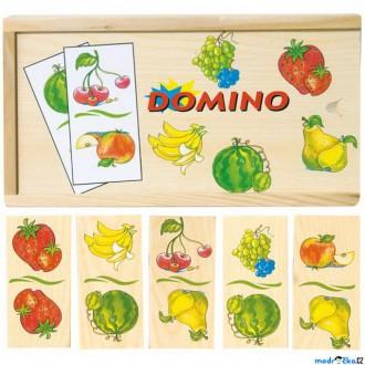 Dřevěné hračky - Domino - Ovoce dřevěné, 28ks (Woody)