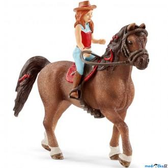 Ostatní hračky - Schleich - Kůň s jezdcem, Zrzka Hannah a kůň Cayenne
