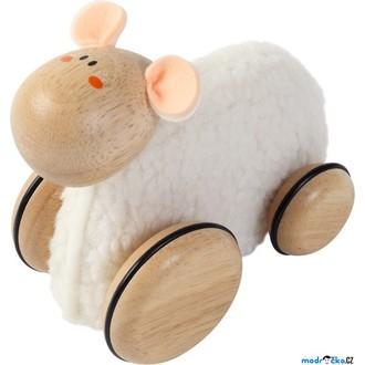 Dřevěné hračky - Zvířátko na kolečkách - Ovečka svlékací (Voila)