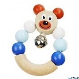 Pro nejmenší - Chrastítko - Kroužek do ruky, Medvěd modré (Detoa)