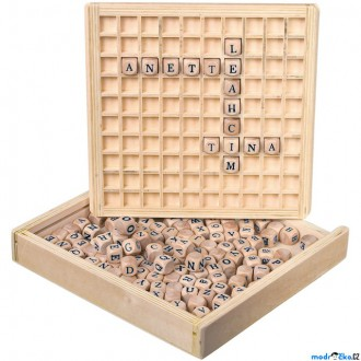 Dřevěné hračky - Didaktická pomůcka - Tvorba slov na desce (Legler)