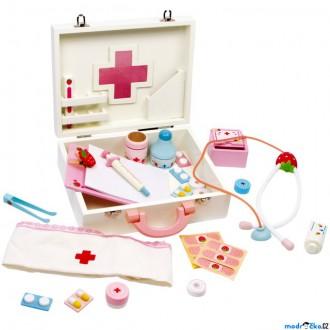 Dřevěné hračky - Doktor - Set v kufříku, Deluxe Isabel (Legler)