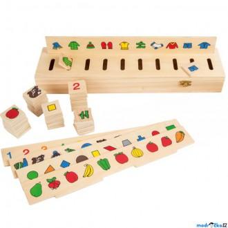 Dřevěné hračky - Didaktická pomůcka - Box na třídění obrázků, 50ks (Legler)