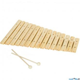 Dřevěné hračky - Hudba - Xylofon 15 tónů, Dřevěný přírodní (Legler)