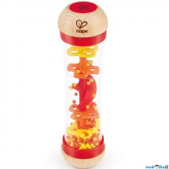 Dřevěné hračky - Hudba - Dešťová hůl, červená (Hape)