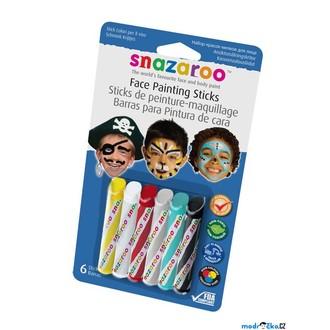 Ostatní hračky - Snazaroo - Tužky na obličej, Chlapecké, 6 barev
