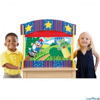 Dřevěné hračky - Divadlo - Luxusní loutkové s oponou (M&D)