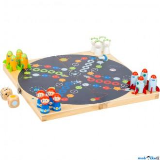 Dřevěné hračky - Člověče, nezlob se - Vesmír, dřevěné figurky (Legler)